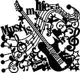 Marabu 028900012 - Silhouette Schablone Music is my Life, 30 x 30 cm