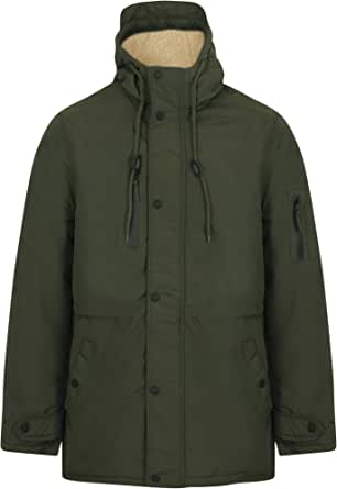 Tokyo Laundry Mens Jacket Parka Coat Hooded Sherpa Lined Heavy Fish Tail Winter