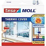 tesamoll Thermo Cover - Raamisolatiefolie, transparant - Niet klevende raamfolie - Isolatiefolie - 1,7 m x 1,5 m