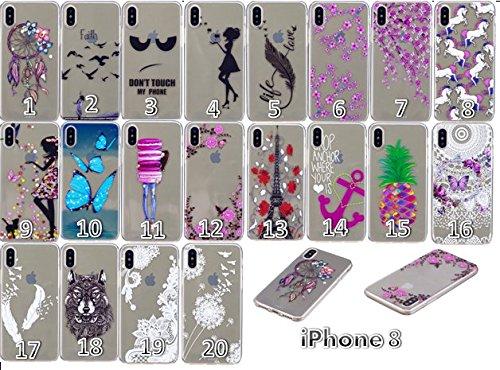 Ultradünne transparente Hülle für Apple iPhone X / iPhone 10 5.8 Zoll 2017 Hülle Schutzhülle Handy TPU Silikon Hülle Case Cover Durchsichtig Gel Tasche Bumper ( + Stöpsel Staubschutz) (14) 12