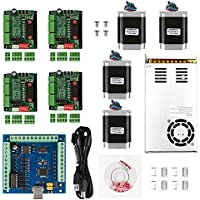 SainSmart CNC 4-Axis Kit with TB656 Motor Driver, USB Interface Controller Card, Nema23 270 Oz-in Motor and 24V Power Supply (CNC Kit 2)