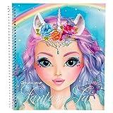 TOPModel 5298.001 Create Your Fantasy Face-Malbuch 40 Inhaltsseiten, 3 x Malschule zum Ausklappen, 3 Schablonen, 1 Stickerbogen