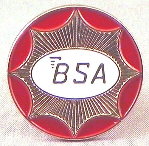 Mainly Metal Métal Émail Broche BSA Moto Cercle (Argent)