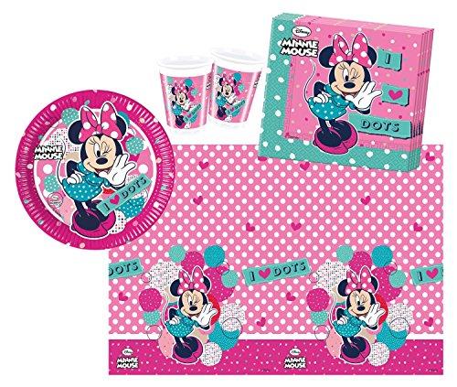 Procos 10108555B - Accessori per feste per bambini, motivo: Minnie a pois, 37 pz