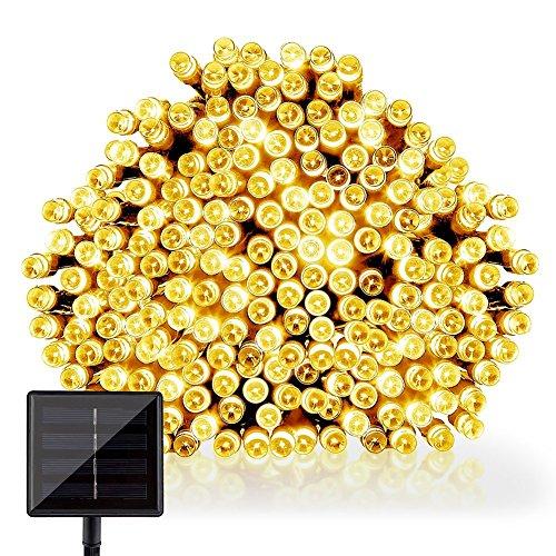 GDEALER LED Solar Lichterkette Weihnachten Decoration 22m 200 LED 2 Modes Wasserdicht für Outdoor Party, Haus Dekoration, Hochzeit, Weihnachten, Feier Festakt (Warmweiß) [Energieklasse A++] (Neue Jahre Outdoor-dekorationen)