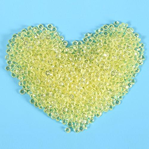 Ruimin 2000pezzi acrilico cristallo coriandoli shining diamond scatters strass 4.5mm per doccia da sposa perline vaso matrimonio decorazione giallo yellow
