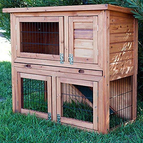 lter Kaninchenstall, ausziehbare Reinigungsschale, 4 Türen ()