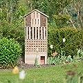 Relaxdays Insektenhotel XXL stehend, Nisthilfe für Biene, Schmetterling, Igelhaus, Holz, HxBxT: 118 x 57 x 24 cm, natur von Relaxdays bei Du und dein Garten