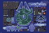 Star Wars Poster Millennium Falcon Cutout (101,5cm x 68,5cm) + 1 Traumstrand Poster Insel Bora Bora Zusätzlich