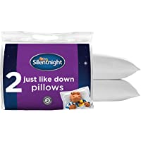 Silentnight Just Like Down Pillow Pack of 2 - Hotel Bed Sleep Pillows Cuddle Support Pillow Pair - Machine Washable Soft…