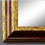 Artecentro Cornice Dorata per Quadri - Oro/Colore con o Senza passepartout in Legno-Varie Misure (Oro/Rosso, 40x50)