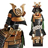 Guerrier samouraï - noir/or - Oda Nobunaga Shogun Japanese Samurai Armure Miniature Statue