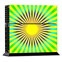 Generic Sun Light Pattern Protective Skin Sticker Cover Skin Sticker for PS4 Game Console