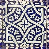 Orientalische handbemalte Fliese Besma 15 x 15 cm aus Marokko