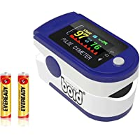 Oximeter pulse(CE Certified),O2 Saturation, Pulse Rate (PR) with Digital Display,Oxymeter with TFT Display (Blue) LK-88…