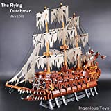 UCS The Flying Dutchman Pirates of the caribbean large pirate ship with 9 figs - 3652pcs compatible building block #AF016