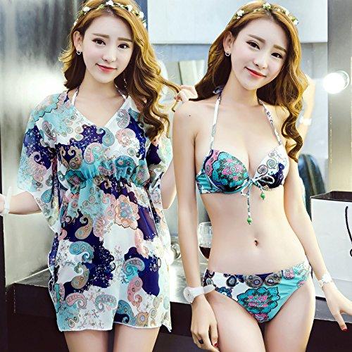 Drei Stück Badeanzug Mit Split - Bikini xl