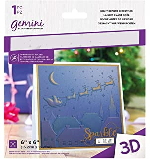 Crafters Companion Gemini-3D Embossing Folder-Ornate Lace-5 x 7 5-inch x 7-inch