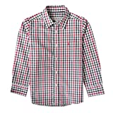 Almsach Trachtenhemd Domi für Kinder mehrfarbig in Rot und Dunkelgrün inklusive Volksfestfinder, Farbe:Mehrfarbig, Größe:80/86