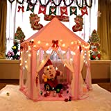 MonoBeach Kids Indoor Princess Castle Play tent, 55 x 53 inches Outdoor Fairy House for Child