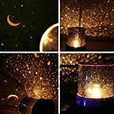 DZQA Star Master Starry Moon Beauty Night Cosmos Projector Bed Side Lamp
