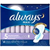 Always 3700017902 Extra Heavy Overnight Maxi Pad with Flexi-Wing, Pack of 20