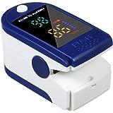 Oxímetro, Punta del Dedo Digital Oxímetro de Pulso Sensor de oxígeno en la Sangre Saturación SpO2 Monitor Medidor para Viajes