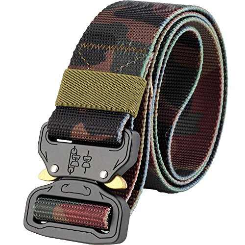 ALAIX Durable Cobra Tactical Belt Heavy-Duty Quick-Release Large and high 1.5'-wide Classic camouflage
