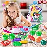Wokee Gemüse 25 Stücke/Set Kinder Schneiden Kunststoff Kinder Kinder Küchenutensilien Essen Kochen Pretend Play Set Spielzeug Gemüse Frucht Kunststoff