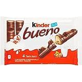Kinder Bueno Bars, Pack of 4 Chocolate, Hazelnut & Wafer Bars