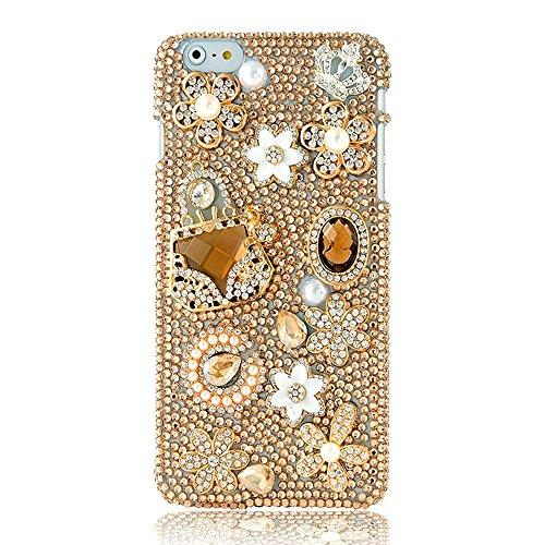 EVTECH(TM) Neue Apple Iphone 6 (4.7 Zoll) Bling Glitter Diamant Schutzhülle/Transparent Hart Kunststoffe Hülle/strass Etui Schale/Plastik Handytasche/Schale case cover Muster-A3
