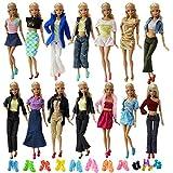 ZITA ELEMENT Ropa Barbie 20 Piezas=10 Conjuntos Vestidos de Estilo de Mezcla de Moda Hecha a Mano...
