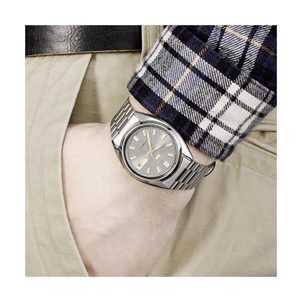 Seiko Reloj Analógico Automático para Hombre con Correa de Acero Inoxidable