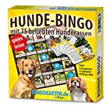 DiPrint Hunde-Bingo Spiel mit 75 der beliebtesten Hunderassen