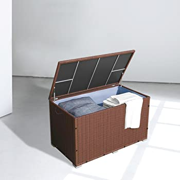 hengda garten kissenbox 146 x 83 x 80 cm auflagenbox gartenbox aufbewahrungsbox bis 150 kg. Black Bedroom Furniture Sets. Home Design Ideas