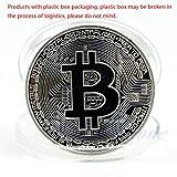 zijianZZJ Gedenkmünze, Seltene Silber Bitcoin Münze Sammeln BTC Münze Kunstsammlung Geschenk Physikalische