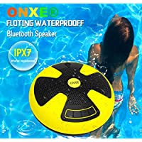 IPX7 Waterproof Bluetooth Speaker,Shockproof Dust-proof Wireless Speakers for Pool swimming Beach Seaside Outdoor Bathroom Shower interior,Dual 5W Audio Drives Excellent sound quality,32 yd Bluetooth distance.
