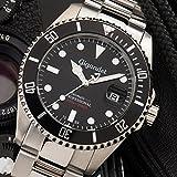 "Gigandet Herren Automatik-Armbanduhr ""Sea Ground"" Analog Edelstahlarmband Schwarz Silber G2-002 - 2"