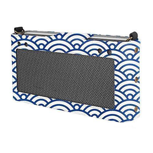 Fintie Bose SoundLink Bluetooth Speaker III Hülle Abdeckung - Hochwertiges Kunstleder Schutzhülle Tasche Case mit Abnehmbarem Band für Bose SoundLink Bluetooth Speaker III 3, Japanische Welle