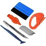 Ewrap Car Vinyl Wrap Tool kit Window Film Tools Including Felt Squeegee, Edge Trimmer, Mini Corner Squeegee for…