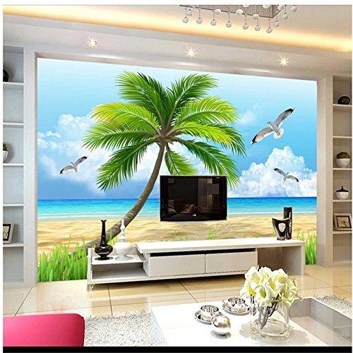 Lqwx Hd 3D Tv Hermosas Playas Como Telón De Fondo Para La Sala De Murales Fotográficos De Papel Tapiz Papel Tapiz 3D Infantil-350cmX245cm