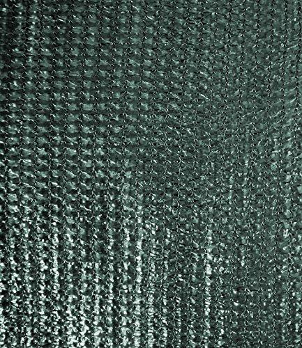 Windhager Schattiergewebe, Schattiernetz, Sonnenschutz, Sichtschutz, idealer Schattenspender z.B. für Gewächshäuser, KFZ-Stellplätze, dunkelgrün, 2 x 10 m, 06136