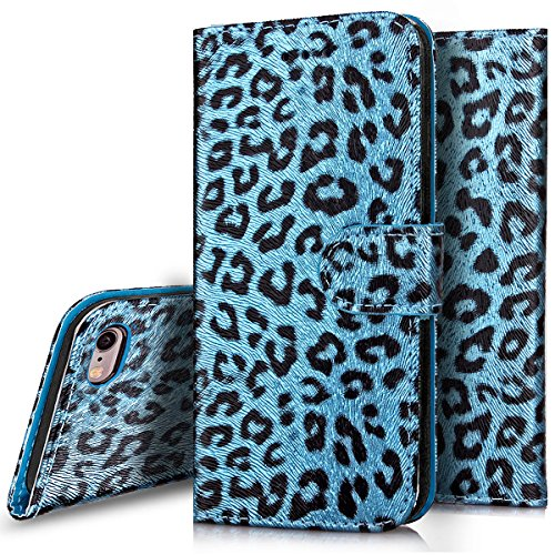Custodia iPhone 6S plus Cover iPhone 6 plus,Ukayfe Flip Cover Wallet Case Custodia per iPhone 6S plus in pelle PU,iPhone 6 plus Lussuosa Astuccio Custodia Cover [PU Leather] [Shock-Absorption] Protett Blu