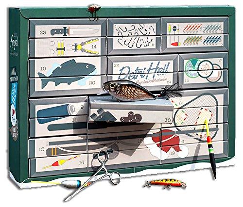 Profi Angler-Adventskalender'Petri Heil'- mit Anglerzubehör und Überraschungen