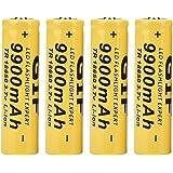 elegante zaklampbatterij, mooi uiterlijk 18650-batterij met grote capaciteit, opladen voor thuis - gebruikt vissen, wandelen