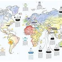YOGA - WELTKARTE von Awesome Maps
