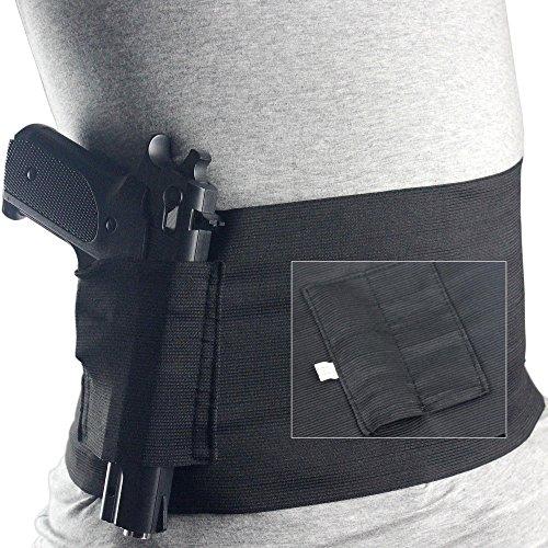 Unbekannt Verdeckte Carry Bauchband 2MAG Magazintasche für Taille 76,2cm zu 96,5cm für Glock 23Sig226 - Auto Holster Gun Verdeckte