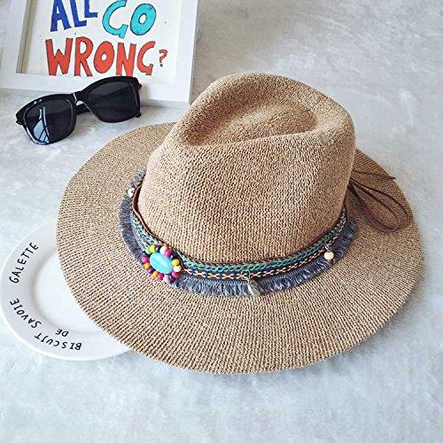 National Wind sépia en été et automne, visière chapeau à large de Sir knitting Stetson Chapeaux mode, Mme (56-58cm) carte son M (56-58cm) kakis