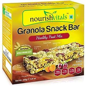 Nourish Vitals Granola Snack Bar - 250g (Healthy Fruit Mix)