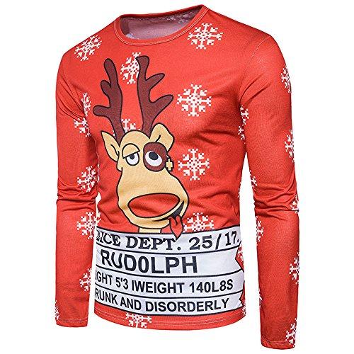 FRAUIT Herren Weihnachten Komisch 3D-Druck Hemd Ugly Unisex Herren Weihnachtspullover Hässliche Pulli Jumper Sweater Sweatshirt Ugly Weihnachtspulli Sport Freizeit